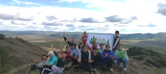 «Юные туристы- краеведы» на горе Акбура